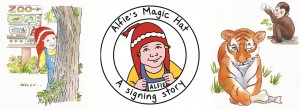 Alfie's Magic Hat - baby sign language, signing in a story book for children